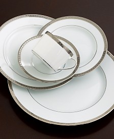 Bernardaud Dinnerware, Athena Platinum Full Rim Design Accent Salad Plate