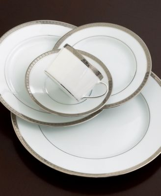 The neoclassical geometric motif of Athena dinnerware from Bernardaud brings a modern allure to your table. Luminous bands of platinum ring this pattern ... & Bernardaud Dinnerware Athena Platinum Limoges Collection - Fine ...