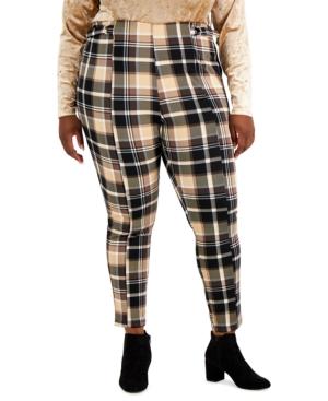 Trendy Plus Size Plaid Ankle Pants