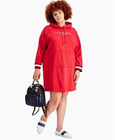Plus Size Logo Hoodie Dress