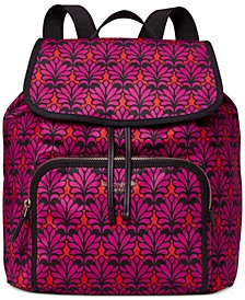 Sam The Little Better Brocade Medium Flap Backpack