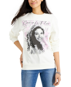 Juniors' Selena Screen Print Sweatshirt