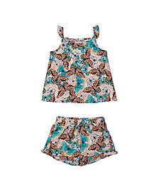 Toddler Girls All Over Print Top and Shorts Challis Set, Created for Macy's