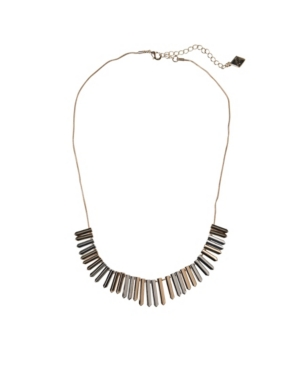 Two-Tone Spike Accent Collar Necklace
