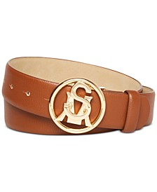 Logo-Circle-Buckle Belt