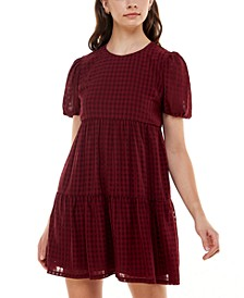 Seersucker Tiered Dress