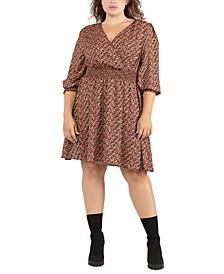 Trendy Plus Size Smocked Printed Dress