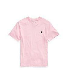 Big Boys Cotton Jersey V-Neck T-Shirt