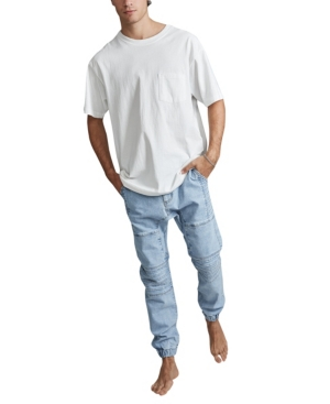 Cotton On Men's Slim Denim Moto Jogger