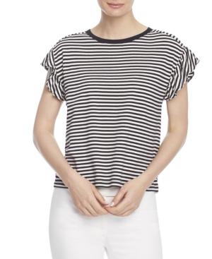 Women's Short Sleeve Ruffle Sleeve Tee