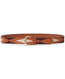 Kenton Patchwork Brown Suede Belt