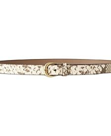 Kenton Python-Print Leather Belt