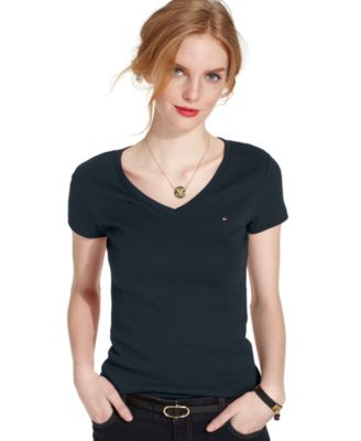 Image of Tommy Hilfiger V-Neck T-Shirt, Only at Macy's