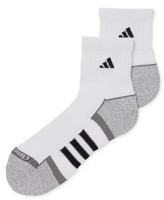 adidas quarter socks. adidas men\u0027s climalite ii quarter-length socks 2-pack quarter c