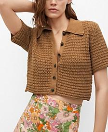 Women's Openwork Knit Top