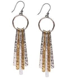 Lucky Brand Two-Tone Paddle Drop Earrings