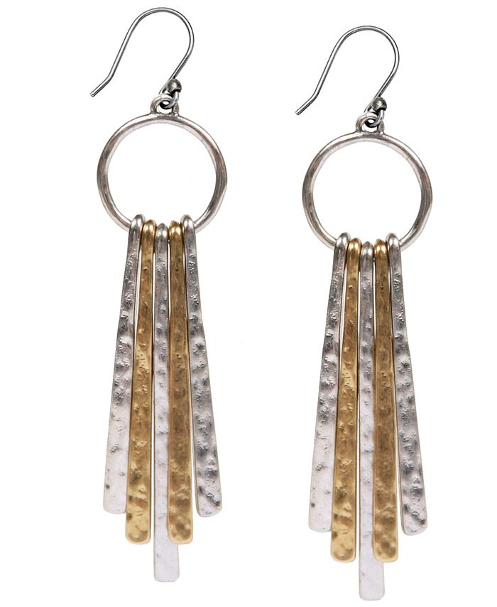Lucky Brand - Two-Tone Paddle Drop Earrings