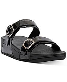 Women's Lulu Glitter Adjustable Slides