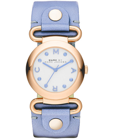 Marc by Marc Jacobs Women's Molly River Leather Strap Watch 30mm MBM1307