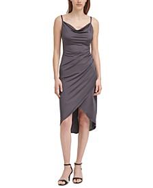 Cowlneck Slip Dress