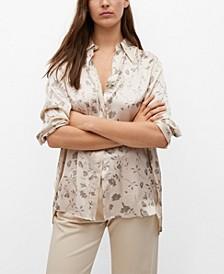 Women's Satin Floral Shirt