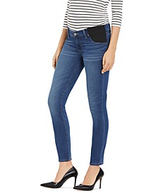 Side-Panel Skinny Maternity Jeans
