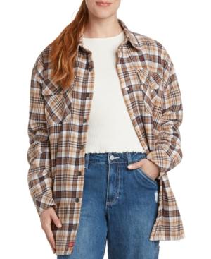 Oversized Plaid Shirt Jacket