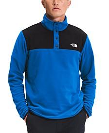 Men's TKA Glacier Standard-Fit Colorblocked 1/4-Snap Fleece Sweatshirt
