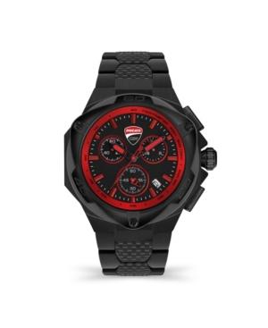 Men's Motore Chronograph Black Stainless Steel Bracelet Watch 49mm