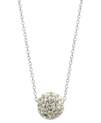 Image of Unwritten Crystal Ball Pendant Necklace in Sterling Silver (1-1/2mm)