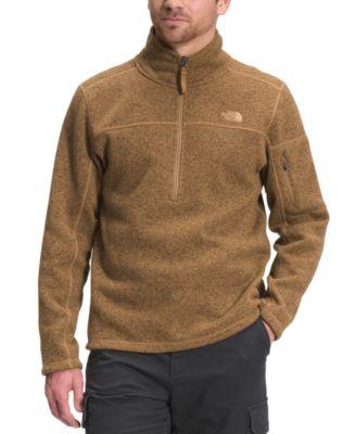 노스페이스 맨 플리스 맨투맨 The North Face Mens Gordon Lyons Classic Standard-Fit 1/4-Zip Fleece Sweatshirt,Utility Brown Dark Heather
