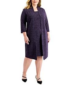 Plus Size Layered-Look Jacket Dress