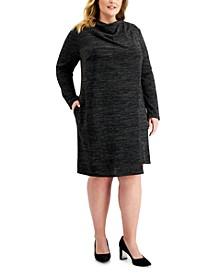 Plus Size Asymmetrical Sheath Dress