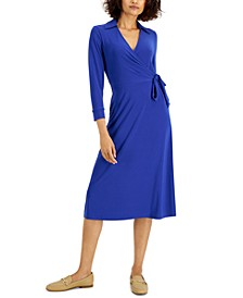 Fit & Flare Wrap Dress