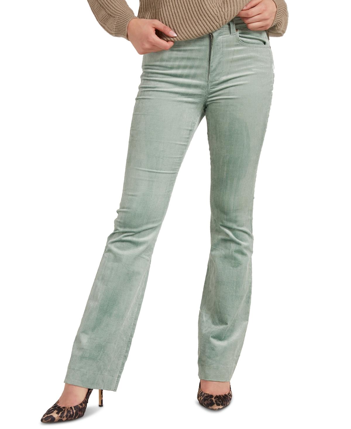 60s Pants, Jeans, Hippie, Flares, Jumpsuits Guess Pop 70s High Waisted Corduroy Pants $82.60 AT vintagedancer.com
