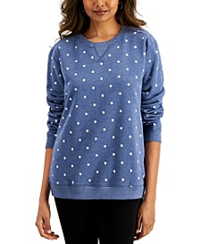 Petite Printed Cotton Top, Created for Macy's