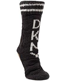Fleece-Lined Logo Slipper Socks
