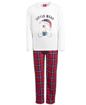 Kids Little Bear Plaid Pajama Set