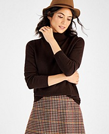 Cashmere Turtleneck Sweater, In Regular and Petites, Created for Macy's