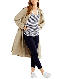 Luxe Essentials Secret Fit Belly® Cropped Maternity Leggings