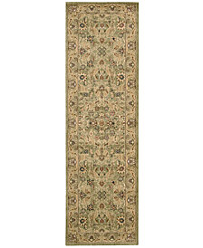 "kathy ireland Home Lumiere Royal Countryside Sage 2'3"" x 7'9"" Runner Rug"