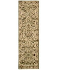 """kathy ireland Home Lumiere Royal Countryside Sage 2'3"""" x 7'9"""" Runner Rug"""