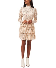 Tiered Floral-Print Dress, Created for Macy's