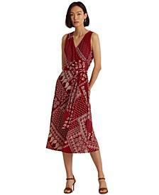 Bandanna-Print Jersey Sleeveless Dress