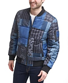 Men's Quilted Puffer Bomber Jacket