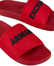 Men's Logo on Mesh Slide Sandals