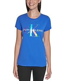 Rainbow Foil Monogram T-Shirt