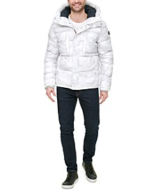 Men's Nylon Quilted Hooded Puffer Jacket