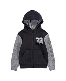 Big Boys Jump Man Air Speckle Printed Fleece Full-Zip Hoodie