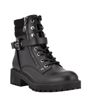 Women's Salma Fashion Lace Up Lug Sole Combat Booties Women's Shoes
